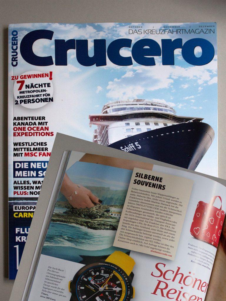 Deilettercode im Crucero Magazin 4/16
