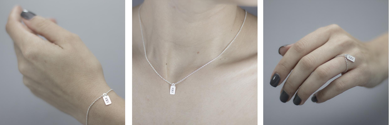 Die gesamte Schmuckkollektion von Dreilettercode aus 925 Silber ist hier im Onlineshop erhältlich
