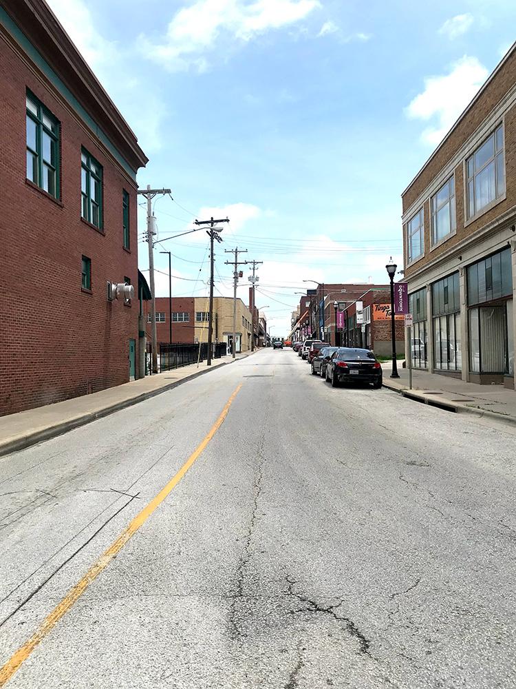 Kelly Ekardts Heimatstadt Downtown Springfield Missouri