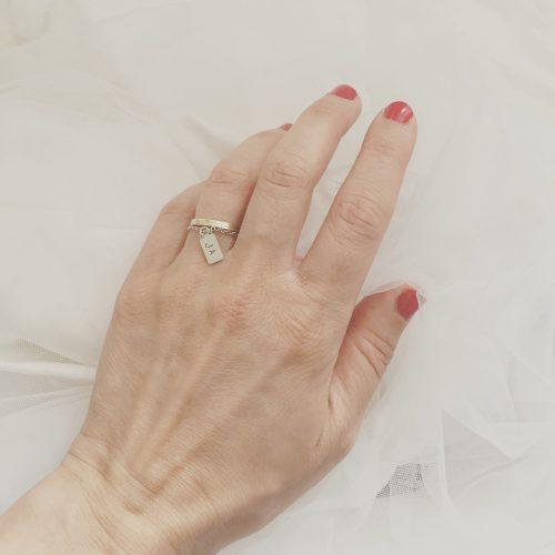 Als Ergänzung zum Ehering, als Verlobungsring, oder als Geschenk zur Hochzeit, Junggesellinnenabschied, oder einfach für sich als Motivation...